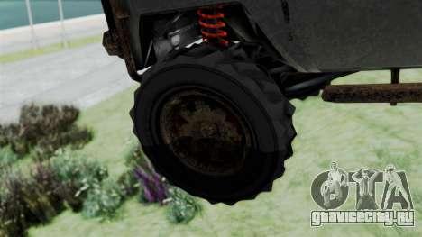 GTA 5 Karin Rebel 4x4 Worn для GTA San Andreas вид сзади слева
