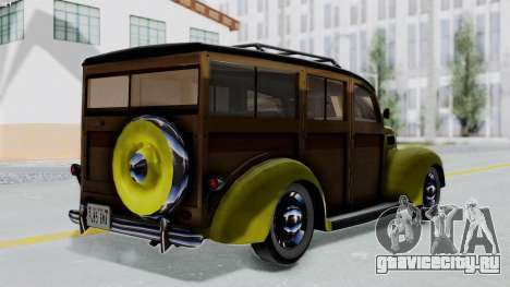 Ford V-8 De Luxe Station Wagon 1937 Mafia2 v1 для GTA San Andreas вид слева