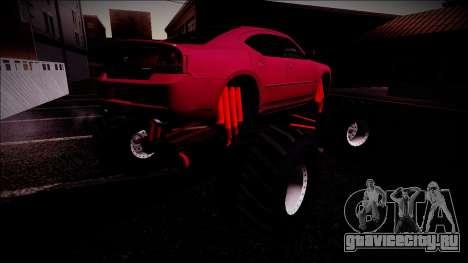 2006 Dodge Charger SRT8 Monster Truck для GTA San Andreas колёса