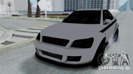 GTA 5 Karin Sultan RS Stock PJ для GTA San Andreas вид сзади