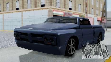 Дополненный Slamvan для GTA San Andreas вид сзади слева