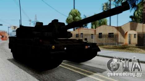 Point Blank Black Panther Woodland для GTA San Andreas вид сзади слева