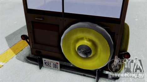 Ford V-8 De Luxe Station Wagon 1937 Mafia2 v2 для GTA San Andreas вид сзади