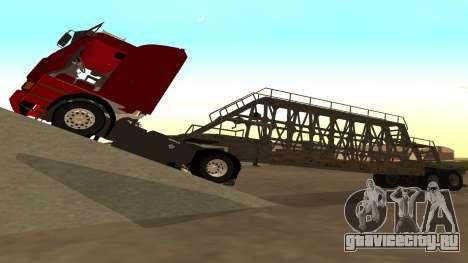 Прицеп для перевозки панелей для GTA San Andreas вид сзади слева