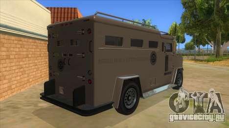 GTA 5 Brute Riot Police для GTA San Andreas вид справа