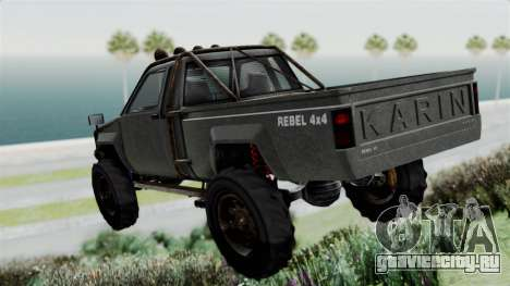 GTA 5 Karin Rebel 4x4 Worn для GTA San Andreas вид слева