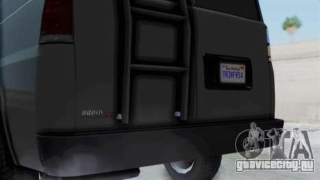 Vapid Speedo Newsvan для GTA San Andreas вид сзади слева