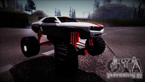 GTA 5 Bravado Gauntlet Monster Truck для GTA San Andreas вид справа