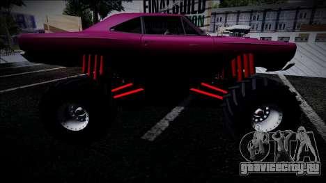 1969 Plymouth Road Runner Monster Truck для GTA San Andreas вид сзади слева