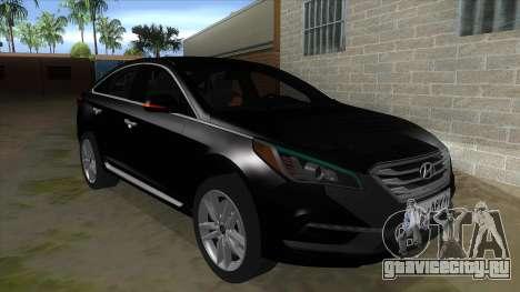 Iranian Hyundai Sonata Turbo для GTA San Andreas вид сзади