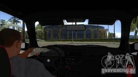 BMW M3 E30 1991 для GTA San Andreas вид изнутри