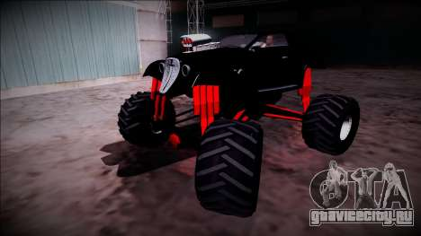 GTA 5 Hotknife Monster Truck для GTA San Andreas вид сверху