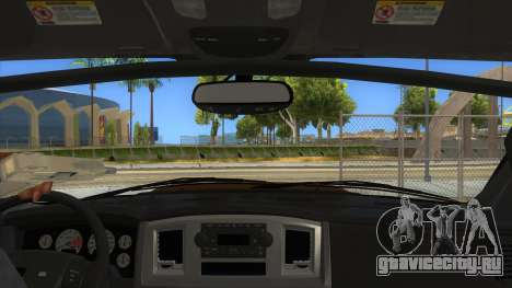 Dodge Ram SRT DES 2012 для GTA San Andreas вид изнутри