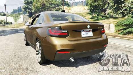 BMW M235i Coupe для GTA 5 вид сзади слева