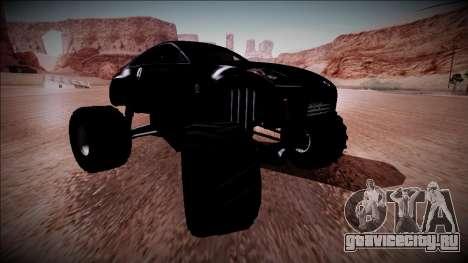 Nissan 350Z Monster Truck для GTA San Andreas вид снизу