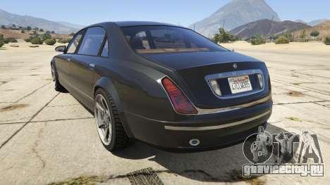 GTA 4 Enus Cognoscenti для GTA 5 вид сзади слева