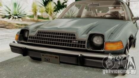 AMC Pacer 1978 IVF для GTA San Andreas вид сбоку