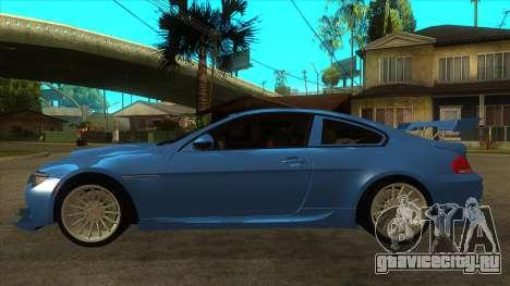 BMW M6 Full Tuning для GTA San Andreas вид слева