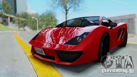 GTA 5 Pegassi Vacca SA Style для GTA San Andreas вид сзади слева