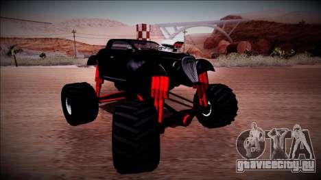 GTA 5 Hotknife Monster Truck для GTA San Andreas вид сзади