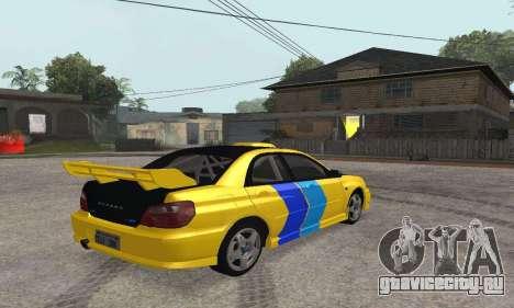 Subaru Impreza WRX STi Tunable для GTA San Andreas вид справа