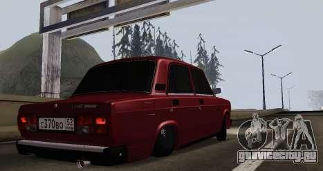 Ваз 2107 NNBPAN для GTA San Andreas вид сзади слева