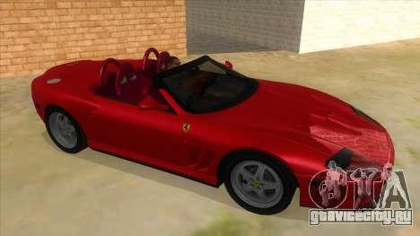 Ferrari 550 Barchetta Pinifarina US Specs 2001 для GTA San Andreas вид сзади