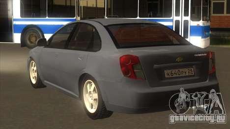 Chevrolet Lacetti Sedan для GTA San Andreas вид сзади слева