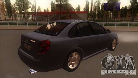 Chevrolet Lacetti Sedan для GTA San Andreas вид справа