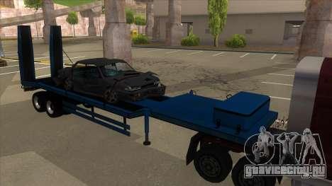 Trailer with Hydaulic Ramps для GTA San Andreas вид слева