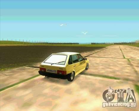 VAZ 2109 BUNKER для GTA San Andreas вид сзади слева