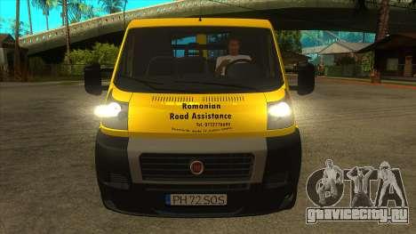 Fiat Ducato Road Asisstance для GTA San Andreas вид изнутри