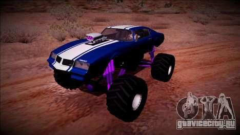 GTA 5 Imponte Phoenix Monster Truck для GTA San Andreas вид сзади