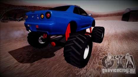 Nissan Skyline R34 Monster Truck для GTA San Andreas вид справа