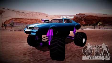 GTA 5 Imponte Phoenix Monster Truck для GTA San Andreas вид сзади слева