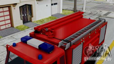 FAP Serbian Fire Truck для GTA San Andreas вид сзади слева