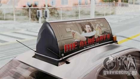 GTA 5 Vapid Stanier II Taxi IVF для GTA San Andreas вид изнутри