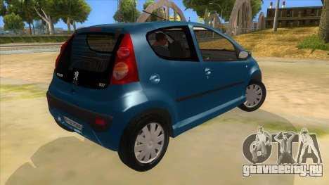 2005 Peugeot 107 V2 для GTA San Andreas вид справа