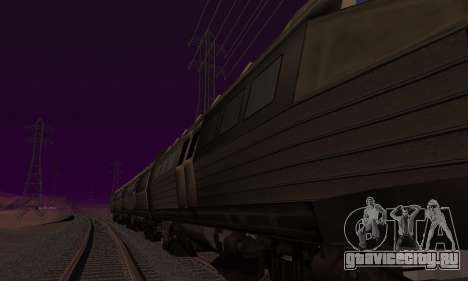 Batman Begins Monorail Train v1 для GTA San Andreas вид сзади слева