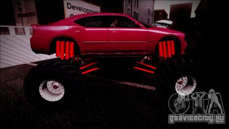2006 Dodge Charger SRT8 Monster Truck для GTA San Andreas двигатель