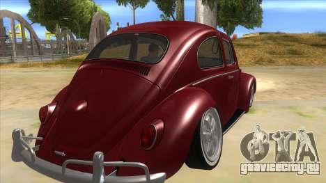 Volkswagen Beetle Aircooled V2 для GTA San Andreas вид справа