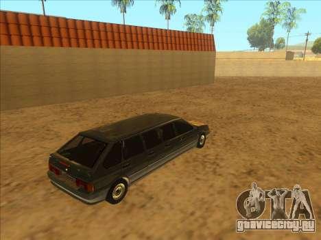 VAZ 2114 9-door для GTA San Andreas вид сзади