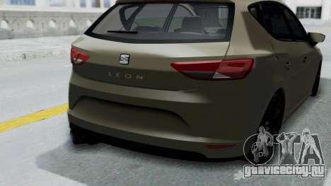 Seat Leon для GTA San Andreas вид справа