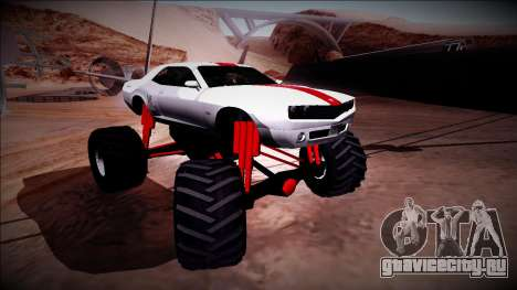 GTA 5 Bravado Gauntlet Monster Truck для GTA San Andreas вид сверху