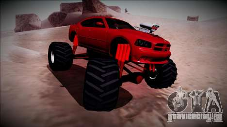2006 Dodge Charger SRT8 Monster Truck для GTA San Andreas вид сбоку