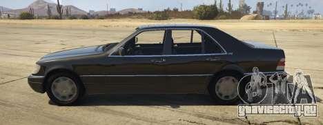 Mercedes-Benz S600 (W140) [Replace] v1.1 для GTA 5 вид слева