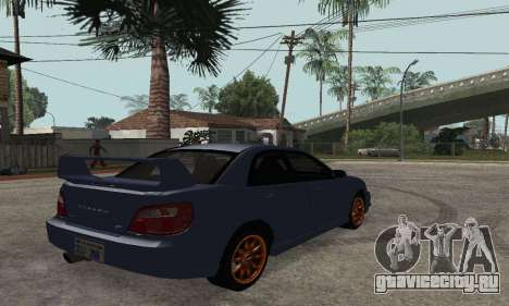 Subaru Impreza WRX STi Tunable для GTA San Andreas вид слева
