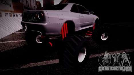 Nissan Skyline R34 Monster Truck для GTA San Andreas салон