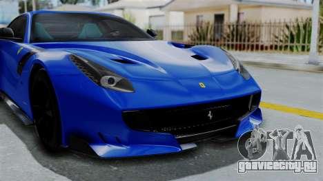 Ferrari F12 TDF 2016 для GTA San Andreas вид изнутри