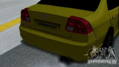 Honda Accord Vtec2 Stock для GTA San Andreas вид сзади